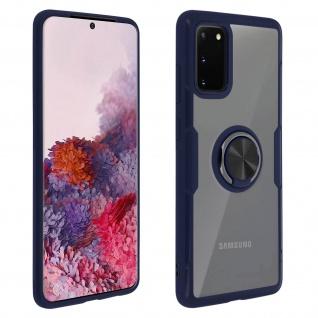 Stoßfeste Handyhülle mit Ring-Halterung für Samsung Galaxy S20 ? Dunkelblau