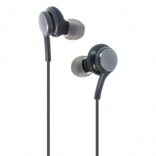 Stereo In-ear Kopfhörer 3.5mm Klinkenstecker, Mikrofon & Fernbedienung - Schwarz