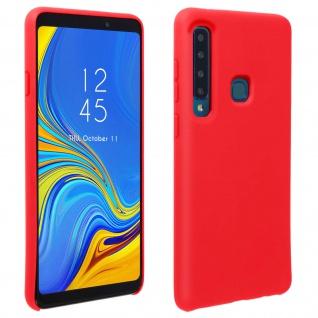 Halbsteife Silikon Handyhülle Galaxy A9 2018, Soft Touch - Rot