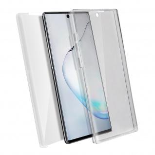 Schutzhülle für Samsung Galaxy Note 10 Plus, Vorder- + Rückseite - Transparent