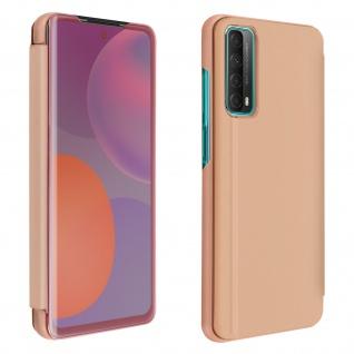 Huawei P Smart 2021 View Cover mit Spiegeleffekt & Standfunktion � Rosa