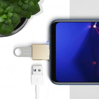 Sync- & Ladeadapter, USB-C männlich / USB weiblich Adapter by Satechi - Gold - Vorschau 5