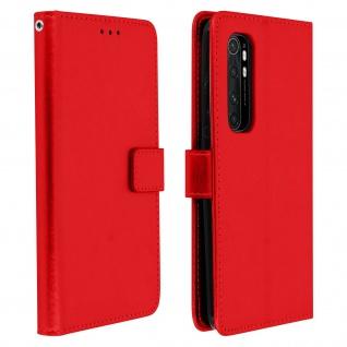 Flip Stand Case Brieftasche & Standfunktion für Xiaomi Mi Note 10 Lite ? Rot
