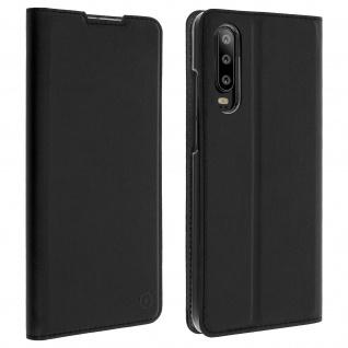Muvit Flip Wallet Cover, Handyhülle für Huawei P30 - Schwarz