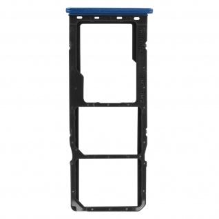 2x SIM + 1x Micro-SD Kartenhalter Ersatzteil für Samsung Galaxy A51 ? Blau