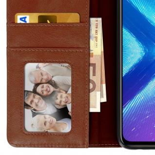 Flip Stand Cover Brieftasche & Standfunktion Huawei Honor 8X - Braun - Vorschau 5