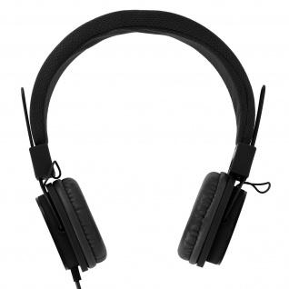 eXtra-Bass On-ear Kopfhörer mit Mikrofon und Freisprechanlage - Schwarz