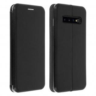 Flip-Cover Case im Brieftaschenstil ultradünn für Samsung Galaxy S10 - Schwarz