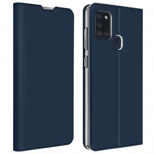 Klappetui mit Kartenfach & Standfunktion Samsung Galaxy A21s - Dunkelblau
