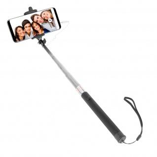 Universal Selfie-Stange mit 3.5mm Klinkenstecker + Fernauslöser - Schwarz