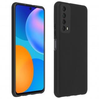 Rutschfeste matte Schutzhülle aus Silikon Huawei P Smart 2021 ? Schwarz