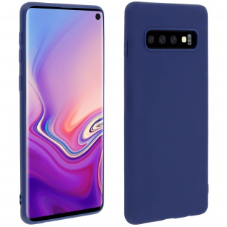 Forcell Samsung Galaxy S10 Soft Touch Silikonhülle, soft case - Dunkelblau