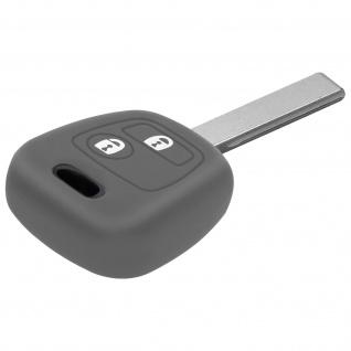Autoschlüssel Hülle, Silikon Schutzhülle Peugeot 108, 206, 207, 208 - Grau