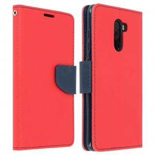Fancy Style Cover, Klappetui für Xiaomi Pocophone F1, inkl. Schlaufe - Rot