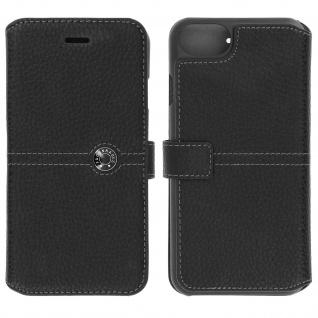 Façonnable Flip-Cover für Apple iPhone 7 / iPhone 8 - Kartenfach - Schwarz