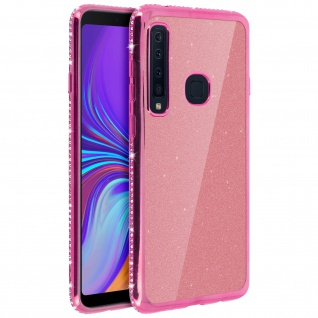 Schutzhülle, Glittery Case für Galaxy A9 2018 , shiny & girly Hülle - Rosa