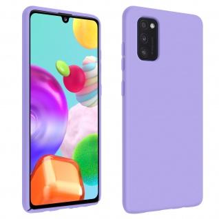 Halbsteife Silikon Handyhülle Samsung Galaxy A41, Soft Touch - Violett
