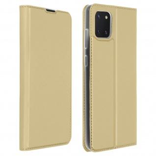 Klappetui mit Kartenfach & Standfunktion Samsung Galaxy Note 10 Lite ? Gold