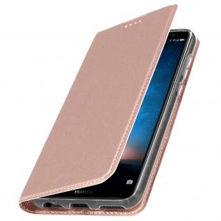 Flip-Cover für Huawei Mate 10 Lite mit Kartenfach & Standfunktion - Rosa
