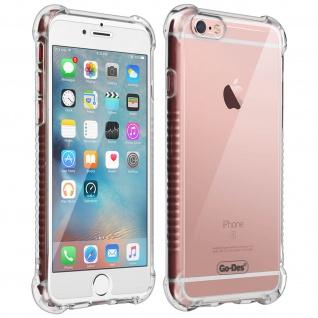 Apple iPhone 6/6S 360° Premium Schutz-Set, mit Metallplättchen - Transparent