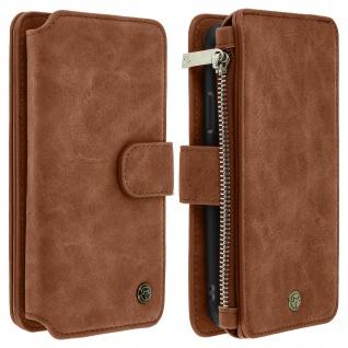 Apple iPhone X/XS Klappetui mit abnehmbarer Handyhülle, Brieftasche ? Braun