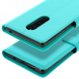 Flip Stand Cover Brieftasche & Standfunktion für Sony Xperia 1 - Türkisblau - Vorschau 5
