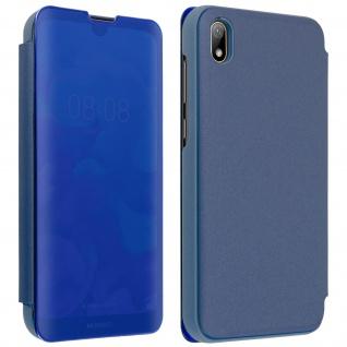 Huawei Y5 2019 Flip Cover mit Spiegeleffekt & Standfunktion - Blau