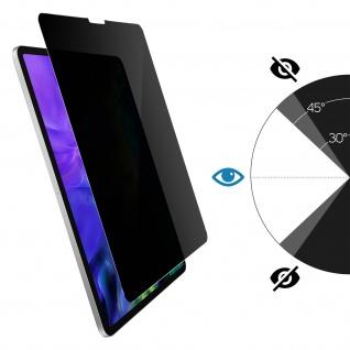 Schutzfolie mit Blickschutz für iPad Pro 11 2018 / iPad Air 2020 ? Rand Schwarz