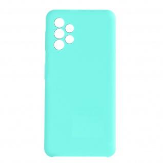 Venus Series halbsteife Soft-Touch Silikonhülle für Samsung A72 ? Türkisblau