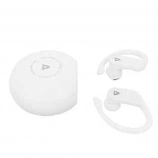 Universal weiße Bluetooth Sport-Kopfhörer mit Ohrbügel