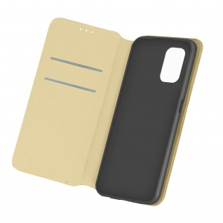Kunstleder Cover Classic Edition für Xiaomi Redmi Note 10 Pro ? Gold