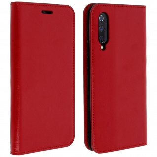 Business Leder Cover, Schutzhülle mit Geldbörse für Xiaomi Mi 9 - Rot