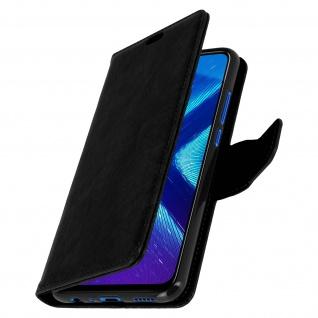 Flip Stand Cover Brieftasche & Standfunktion Huawei Honor 8X - Schwarz - Vorschau 2