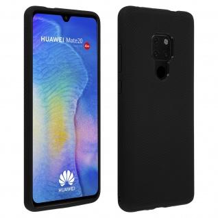 Schutzhülle für Huawei Mate 20, ultradünne & gummierte Gelhülle - Schwarz