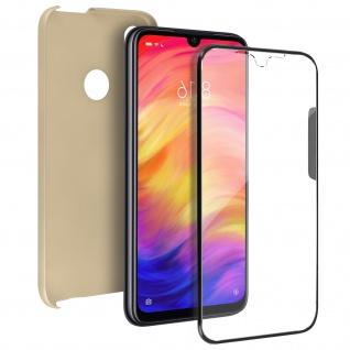 Schutzhülle für Xiaomi Redmi Note 7, Vorder- + Rückseite ? Gold