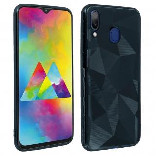Holographische Handyhülle für Samsung Galaxy M20, Prism Design, Mocca - Blau