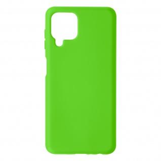 Halbsteife Silikon Handyhülle für Samsung Galaxy A22, Soft Touch ? Grün