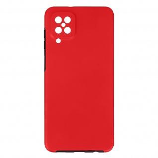 Schutzhülle für Samsung Galaxy A12, Vorder- + Rückseite ? Rot