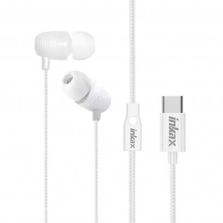 Kabelgebundenes USB-C Kopfhörer Multifunktionstaste 1, 2m Inkax ? Weiß