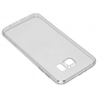Samsung Galaxy S6 Rundumschutz - transparente Hülle + Glas-Displayschutzfolie