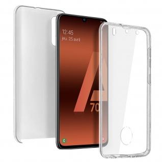 Schutzhülle für Samsung Galaxy A70, Vorder- + Rückseite ? Transparent