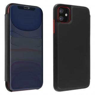 Apple iPhone 11 Flip Cover mit Spiegeleffekt & Standfunktion - Schwarz