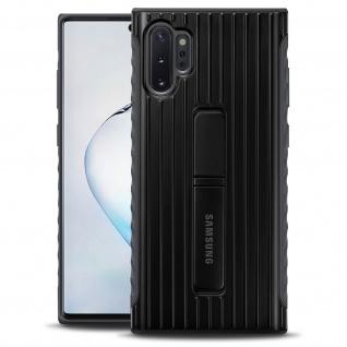 Original Samsung Standing Backcover Case für Galaxy Note 10 Plus - Schwarz