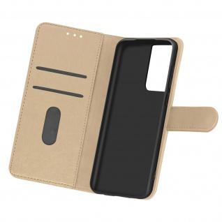 Flip Cover Geldbörse, Etui Kunstleder für Samsung Galaxy S21 Ultra ? Gold