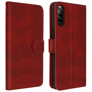 Soft Touch Flip-Cover Geldbörse mit Standfunktion Sony Xperia L4 - Rot