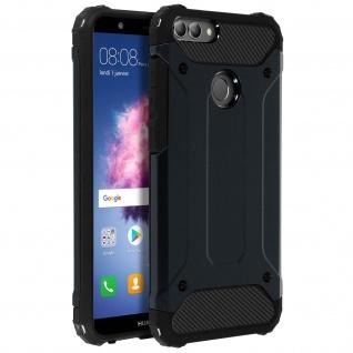 Defender II stoßfeste Schutzhülle für Huawei P Smart - Fallfest - Dunkelblau
