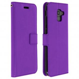 Flip Cover Stand Case Brieftasche & Standfunktion Samsung Galaxy J6 - Violett