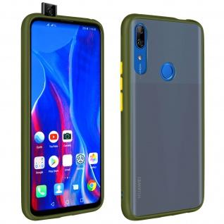 Peach Series harte Handyhülle Huawei P Smart Z, Honor 9X, farbiger Rand - Grün