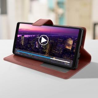 Flip Stand Cover Brieftasche & Standfunktion für Sony Xperia 1 - Braun - Vorschau 4