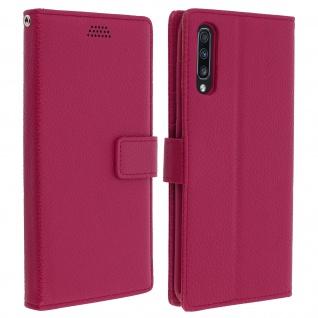 Samsung Galaxy A70 Flip-Cover mit Kartenfächern & Standfunktion - Rosa